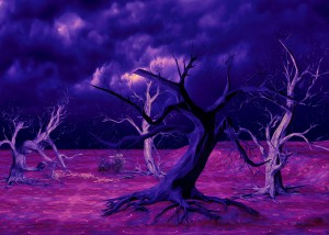 PURPLE FOREST by ART &  INSPIRATION