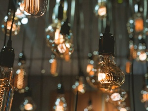 Hanging Edison Bulbs by Aamorephotography