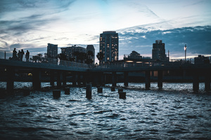 St. Pete Sunset City by Aamorephotography