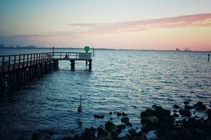 Bayshore Shoreline Sunrise by Aamorephotography