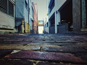 Alleyways Can Be Daunting by Aamorephotography