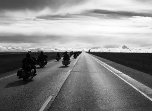 Infidel Bikers on the Open Road by Adi