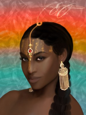 Empress Ak by Afrocentric Painter