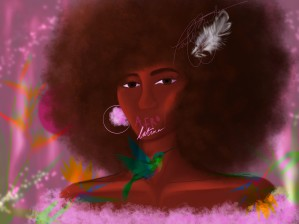 Afro Latina by Afrocentric Painter