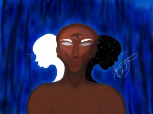 Physical Spiritual and Etheric body by Afrocentric Painter