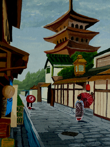 A Stroll in Old Kyoto by Anthony J Dunphy