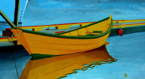 A Yellow Dory by Anthony J Dunphy