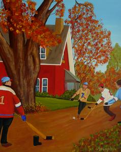 AutumnStreetHockey2 by Anthony J Dunphy