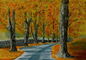 Autumns Pathway by Anthony J Dunphy