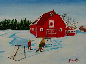Barnyard Hockey by Anthony J Dunphy