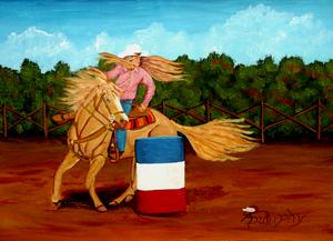 Barrel Racer by Anthony J Dunphy