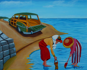 Clam Digging by Anthony J Dunphy