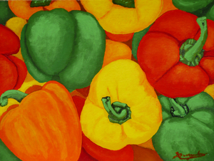 Colorful Peppers by Anthony J Dunphy