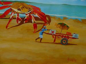 Crab Food Vendor by Anthony J Dunphy