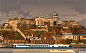 Buda Castle of Budapest by Archipicsstore
