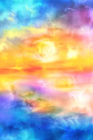 Abstract Warm Sunset II by Art Design Works