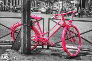 Pink Bicycle by BLAIS Photo