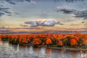 Autumn over Montreal by BLAIS Photo