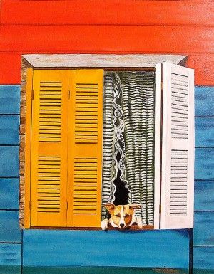 La Boca Watch Dog  by Bella Visat Artist