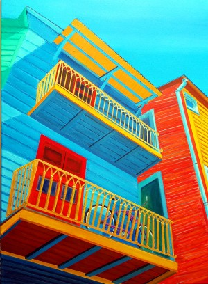 La Boca Upper Deck Parking by Bella Visat Artist