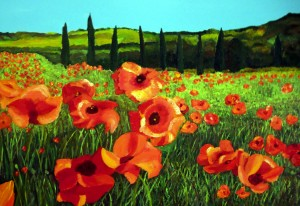 TUSCAN POPPIES by Bella Visat Artist