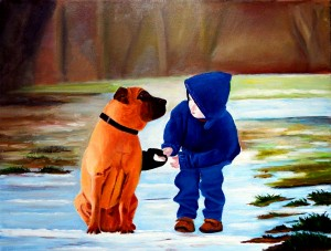 Boy's Best Friend by Bella Visat Artist