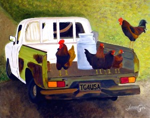 Hitching a Ride to Town by Bella Visat Artist
