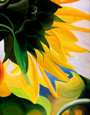 KK's SUNFLOWERS by Bella Visat Artist
