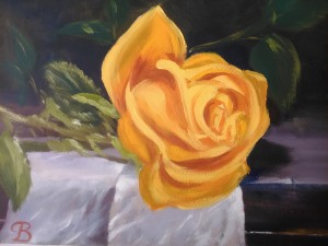 Single rose   by Budai George