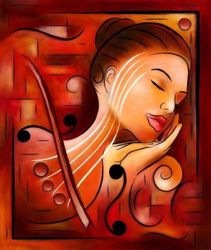 Casselopia - Violin dream by Cersatti Art