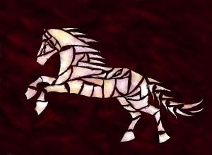Cavallerone - white horse by Cersatti Art