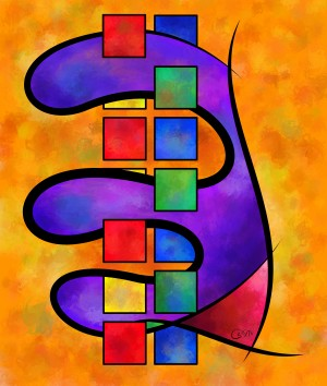 Desmelotipia - colourful cubes by Cersatti Art