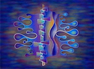 Grafenonci V5 - abstract butterfly by Cersatti Art