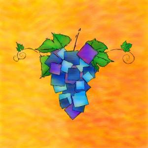Jamurissa - square grapes by Cersatti Art