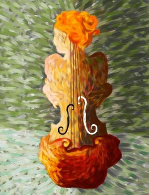 Lonessia V1 - violin beauty by Cersatti Art