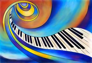 Redemessia - spiral piano by Cersatti Art