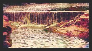 Medicine Park waterfall pic art