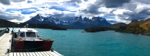 Boat Docked on Pehoe Lake - Torres del Paine National Park by Creative Endeavors - Steven Oscherwitz