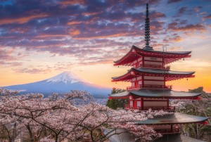 Pagoda at fuji mountain by CyclopsfromHungary