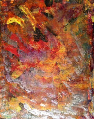 Orange Ade an Original Abstract Painting by Darryl Green