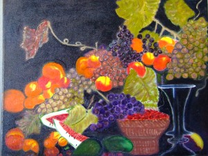 Fruit Basket Still Life by Darryl Green