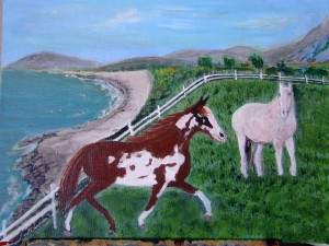 2 Horses in The Meadow  by Darryl Green