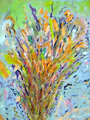 Abstract Burning Bush painting by Darryl Green