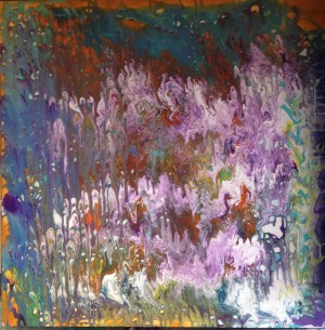 Milagro an abstract acrylic painting by Darryl Green