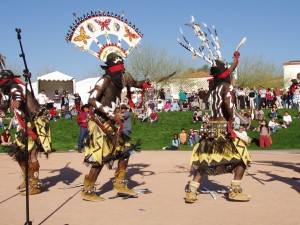 Apache Indian dancers by Darryl Green