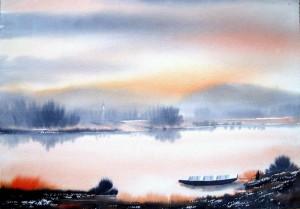 Lake Landscape by David Berkowitz Chicago