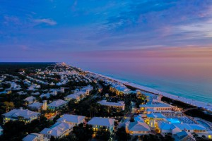 Watercolor Seaside by Destin30A Drone