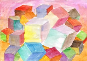 Abstract cubic world by Dobrotsvet Art