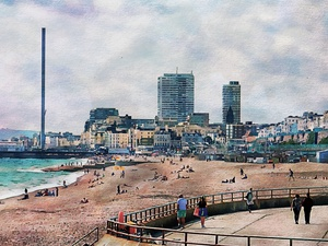 View to Brighton from the Marina by Dorothy Berry-Lound