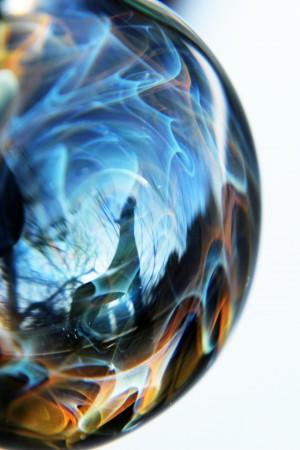 ReflectionInGlassH001 by DragonFire Glass